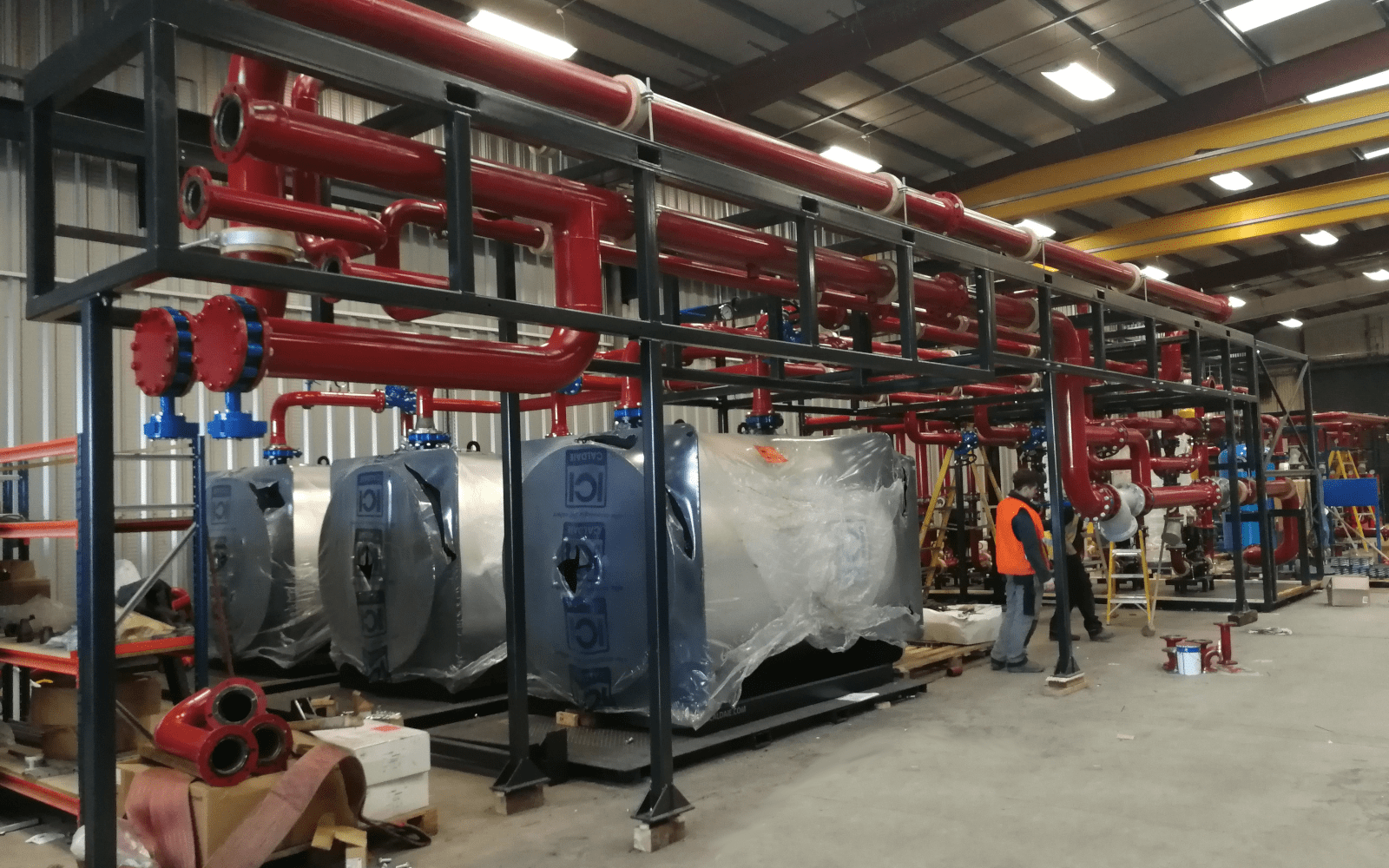 Plant Skid Modules Constructed & Delivered to Site
